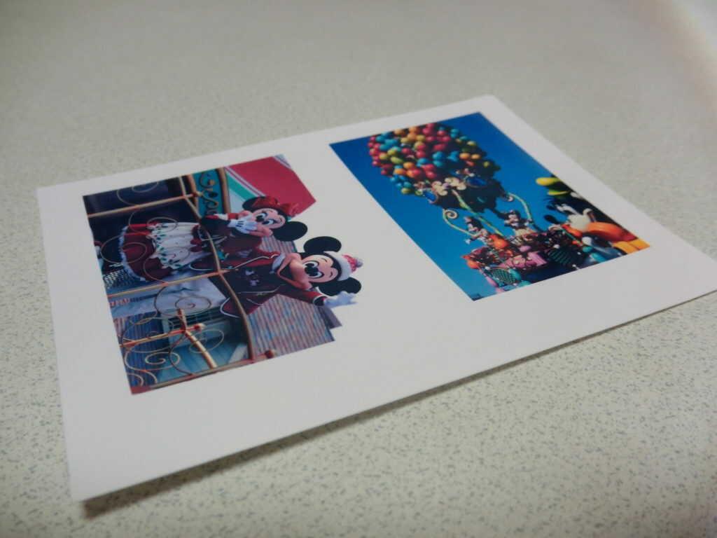 印刷された写真
