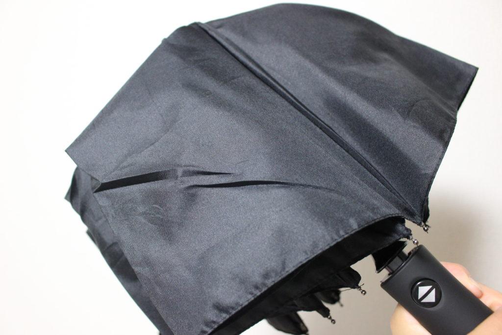 短く格納された傘