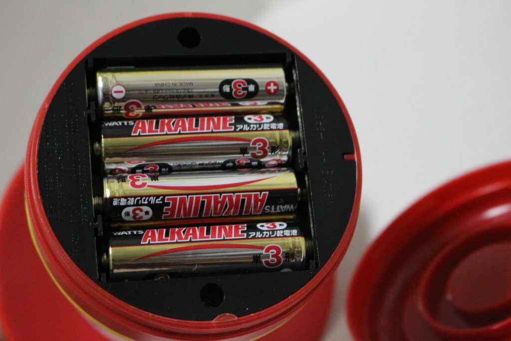 単三電池4本使用
