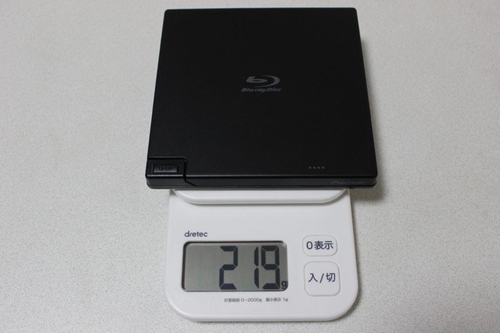 重量約219g