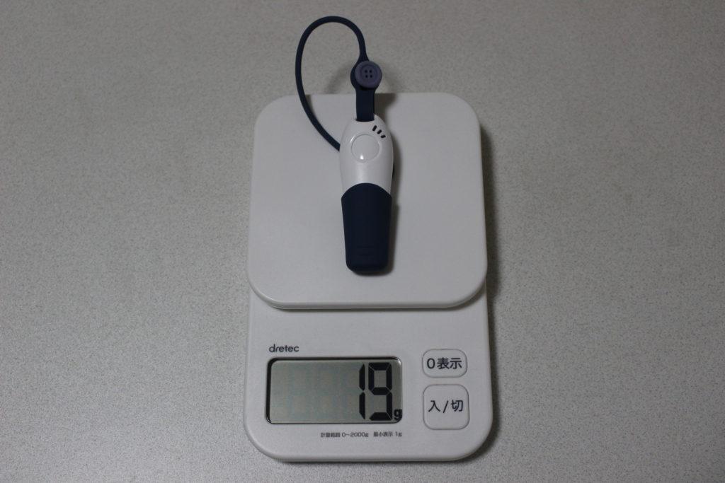 重量約19g