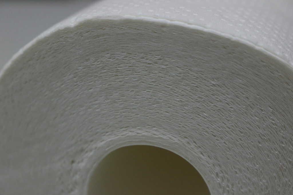 キッチンタオルの重なりを横から見た写真