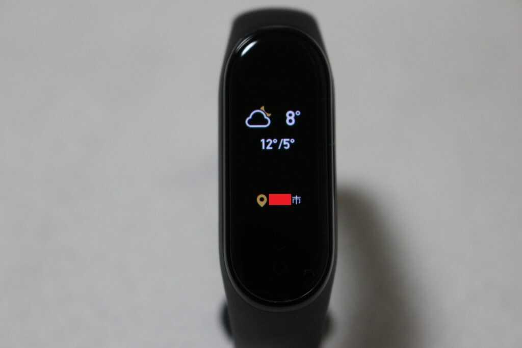 天気と気温と場所の表示