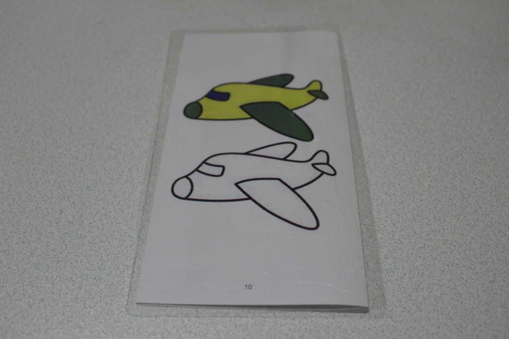 飛行機の下絵