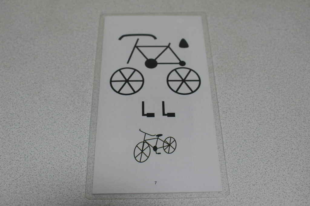 自転車の下絵
