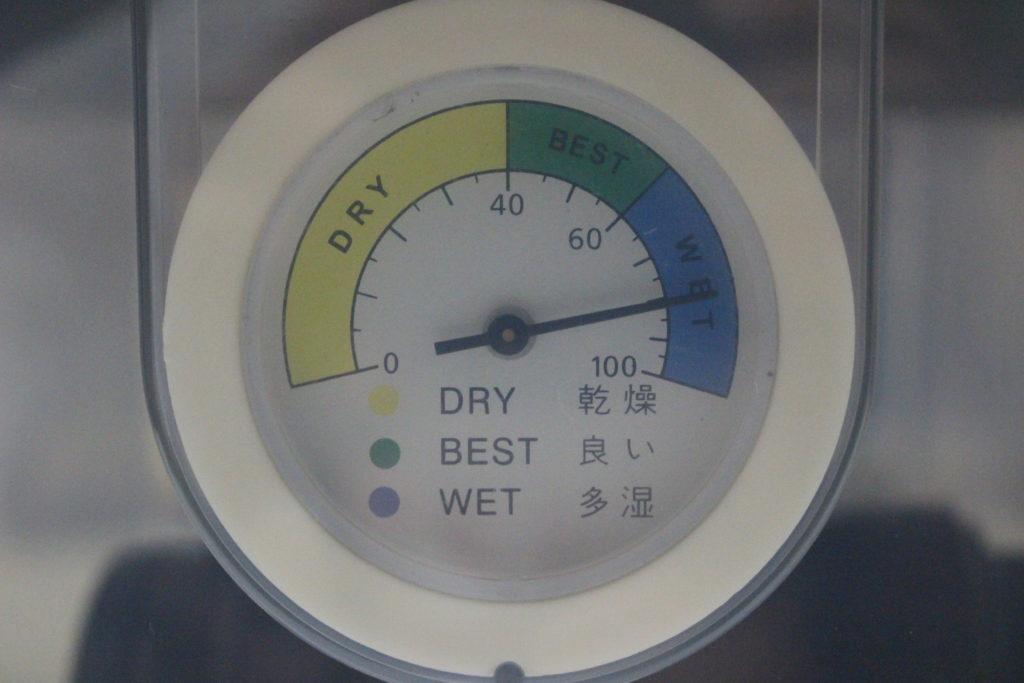 湿度約80%の表示