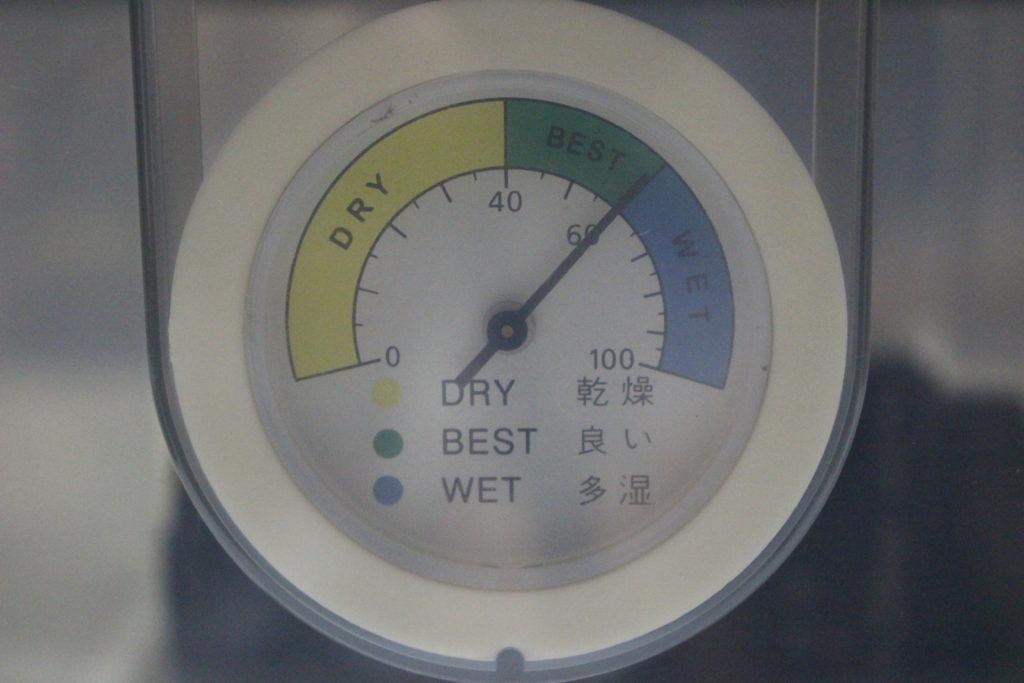 湿度約60%の表示