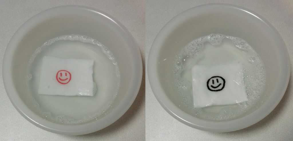 洗い中の比較