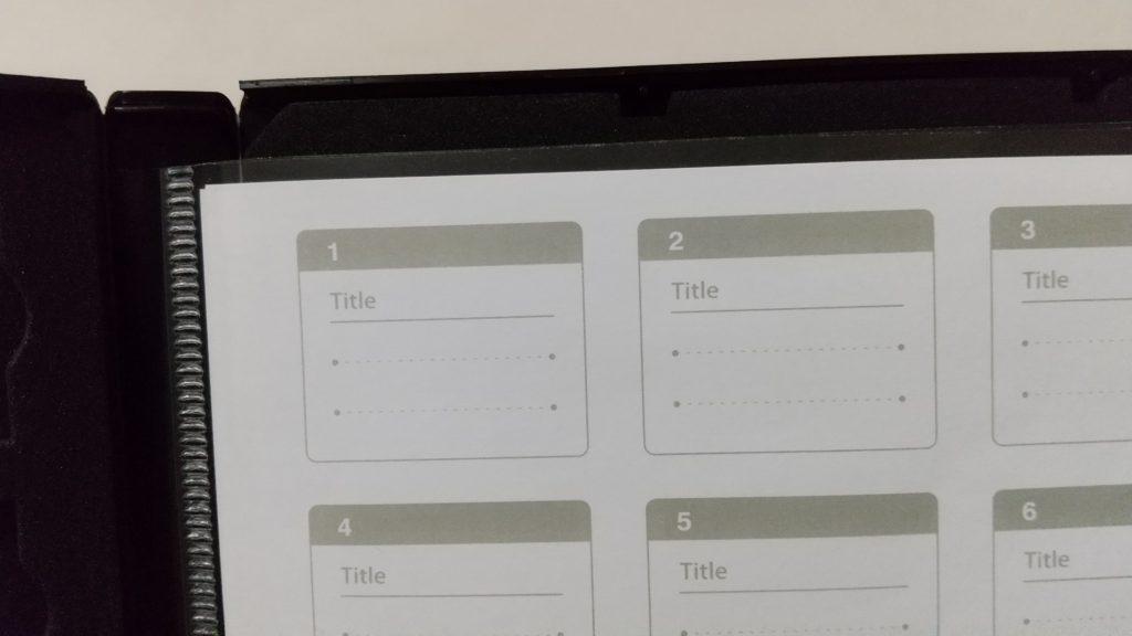 メモ書きができるINDEXカード