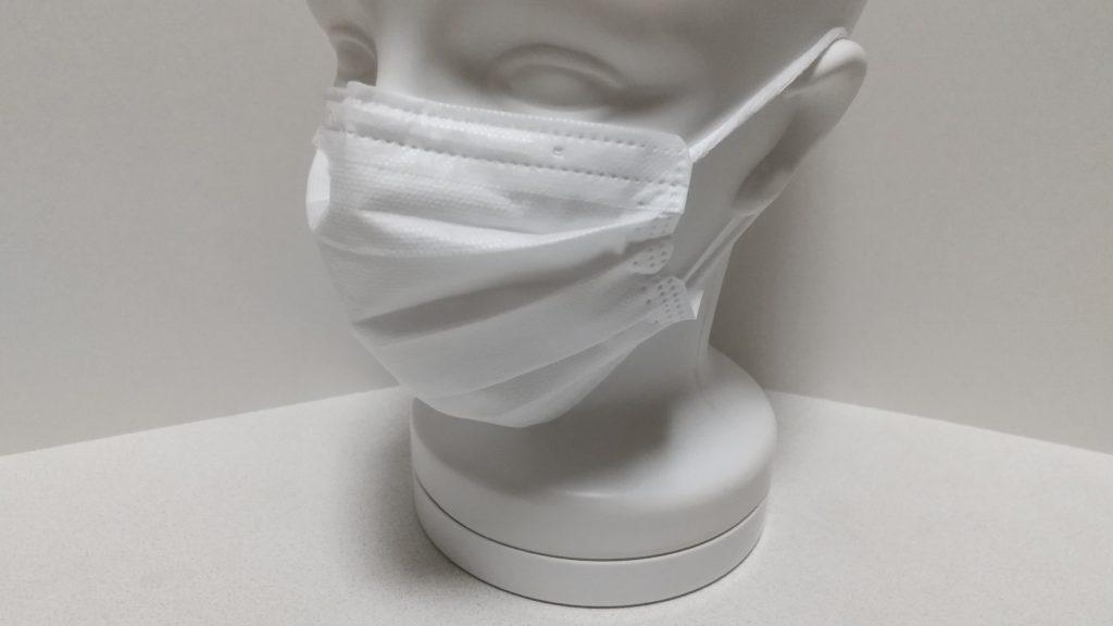 マスクを装着したマネキン頭部