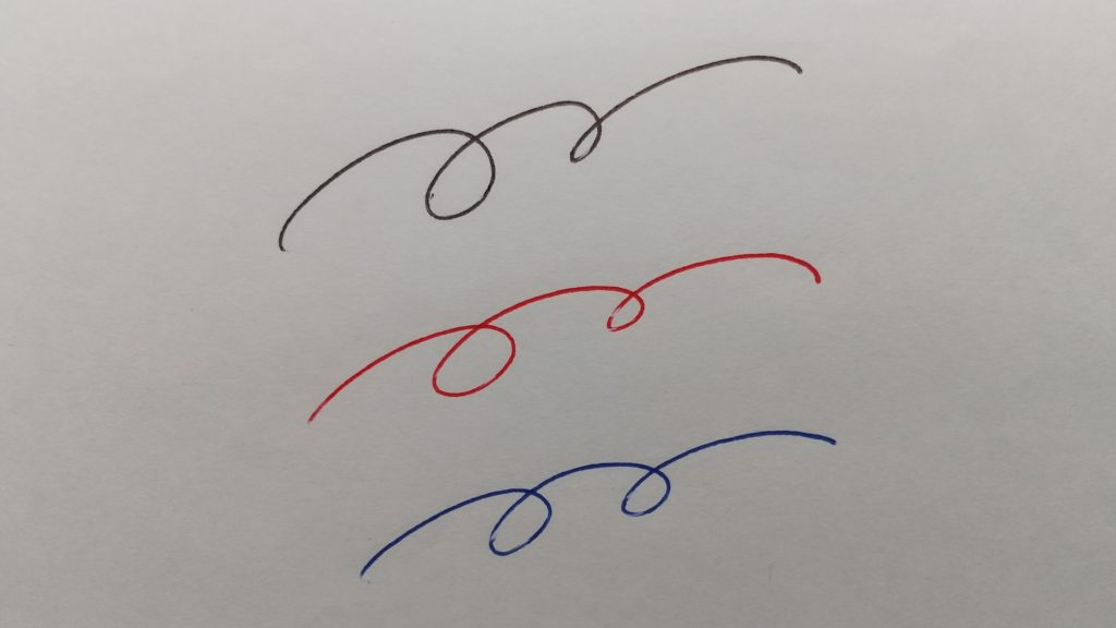 3色の試し書き