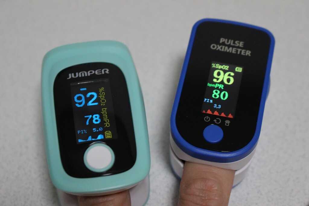 酸素飽和度92と96